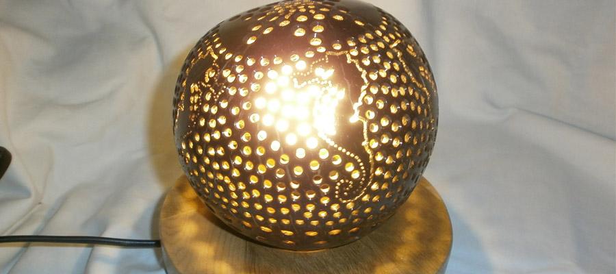 lumière des noix de coco