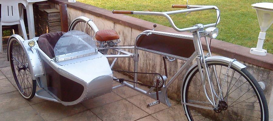 des side-cars pour vélo