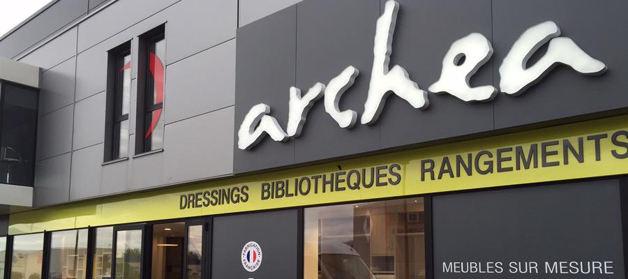 Enseigne de la franchise Archea
